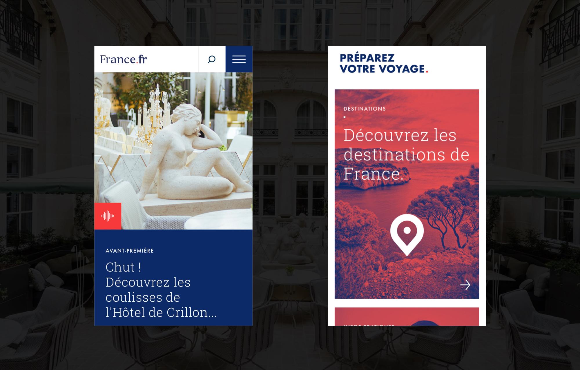 Écrans Mobile Projet France.fr