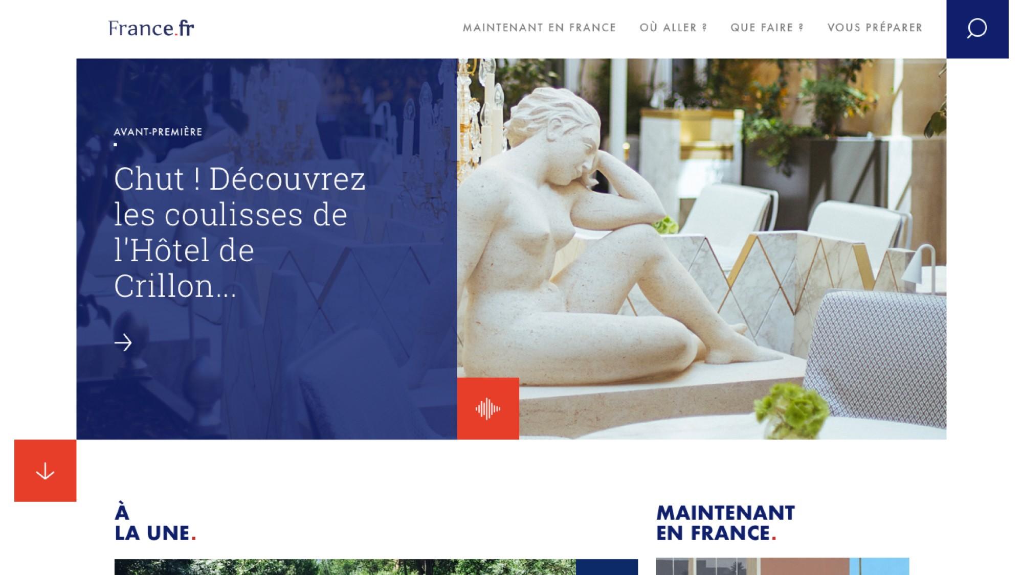 Écran Desktop Projet France.fr